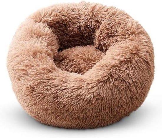 fluffy hondenkussen bruin