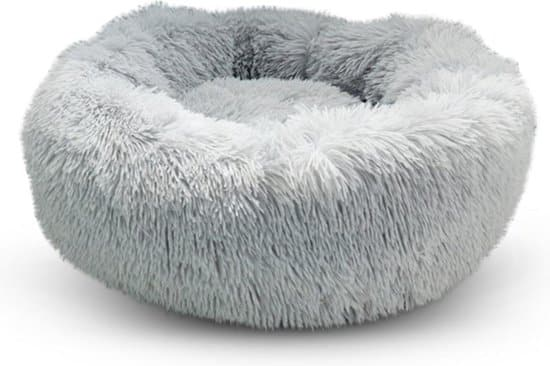 fluffy hondenkussen wit